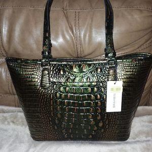 Brahmin tote bag green
